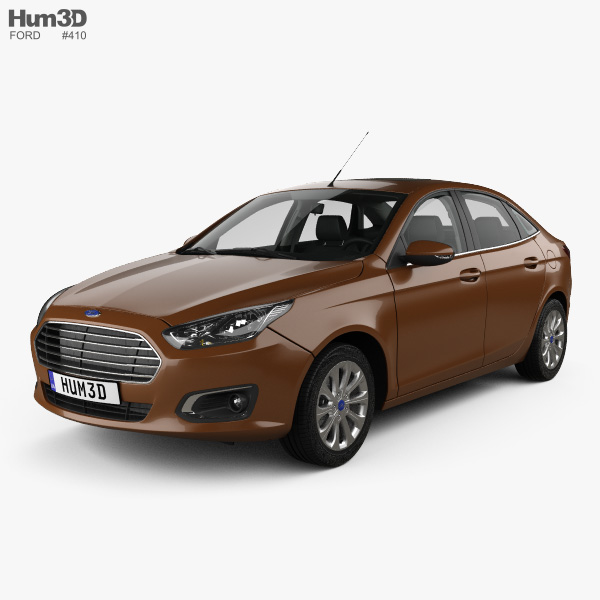 Ford Escort with HQ interior 2014 3D model