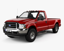 3D model of Ford F-350 Super Duty Regular Cab 1999
