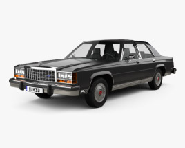 3D model of Ford LTD Crown Victoria 1983