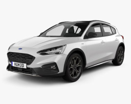 3D model of Ford Focus Active hatchback 2018