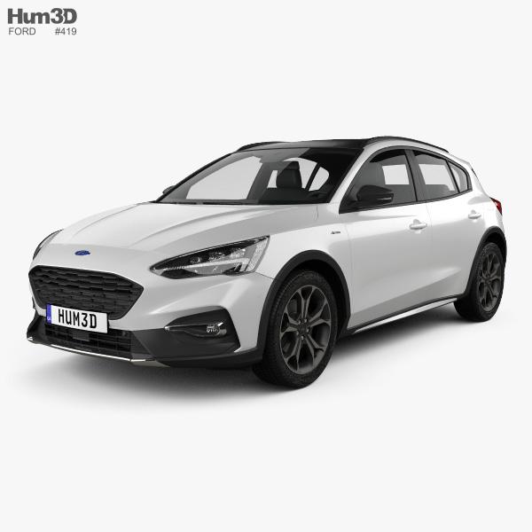 Ford Focus Active hatchback 2018 3D model
