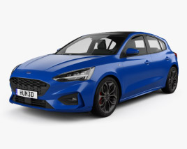 3D model of Ford Focus ST-Line hatchback 2018