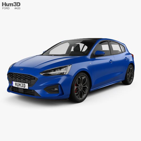 Ford Focus ST-Line hatchback 2018 3D model