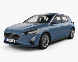Ford Focus Titanium hatchback 2018 3D model