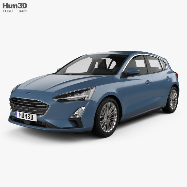 Ford Focus Titanium hatchback 2018 3D model