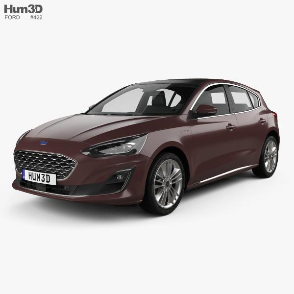 Ford Focus Vignale hatchback 2018 3D model