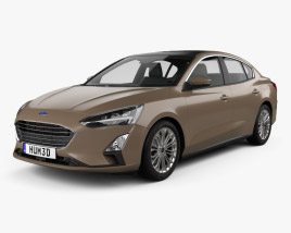 3D model of Ford Focus Titanium CN-spec sedan 2018