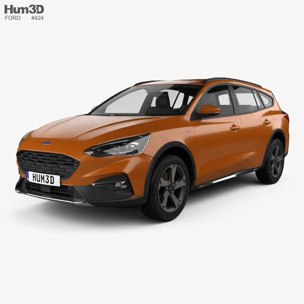Ford Focus Active turnier 2018 3D model