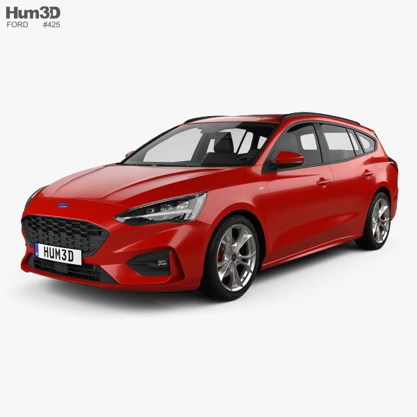 Ford Focus ST-Line turnier 2018 3D model