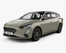 3D model of Ford Focus Titanium turnier 2018