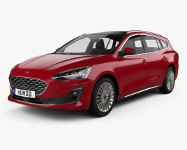 3D model of Ford Focus Vignale turnier 2018