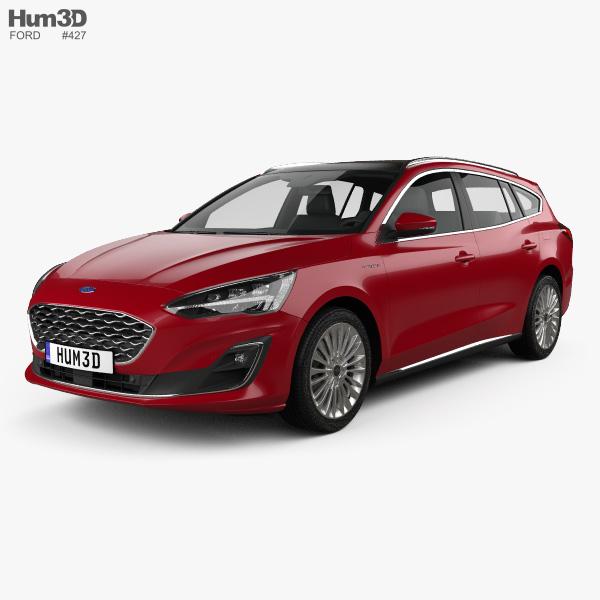 Ford Focus Vignale turnier 2018 3D model
