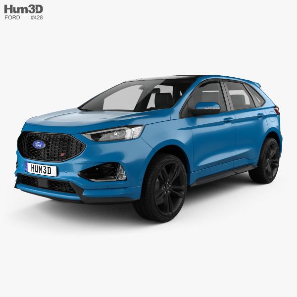 3D model of Ford Edge ST 2019