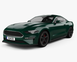 3D model of Ford Mustang Bullitt coupe 2019