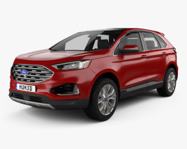 3D model of Ford Edge Titanium 2019