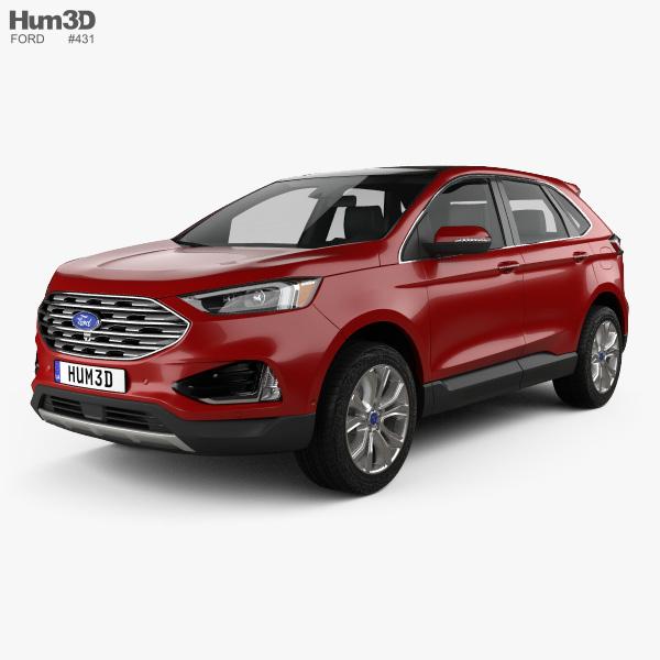 3D model of Ford Edge Titanium 2019