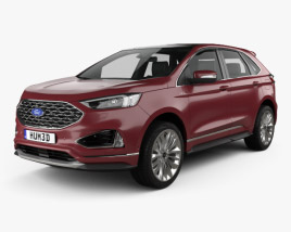 3D model of Ford Edge Vignale 2019