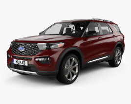 3D model of Ford Explorer Platinum 2019