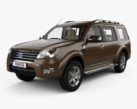 3D model of Ford Everest with HQ interior 2012