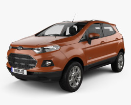 3D model of Ford Ecosport Titanium with HQ interior 2013