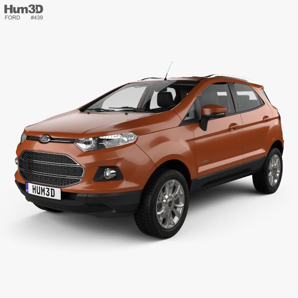 Ford Ecosport Titanium with HQ interior 2013 3D model