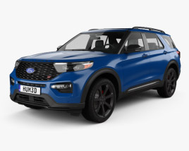 3D model of Ford Explorer ST 2020