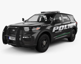 3D model of Ford Explorer Police Interceptor Utility 2020