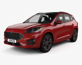 3D model of Ford Kuga Hybrid ST-Line 2020