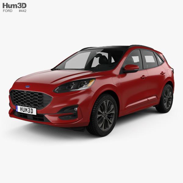 3D model of Ford Kuga Hybrid ST-Line 2020