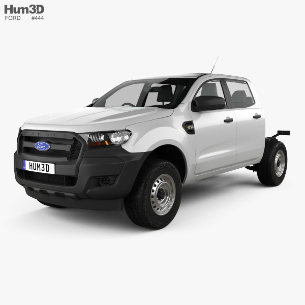 Ford Ranger Double Cab Chassis XL 2016 3D model