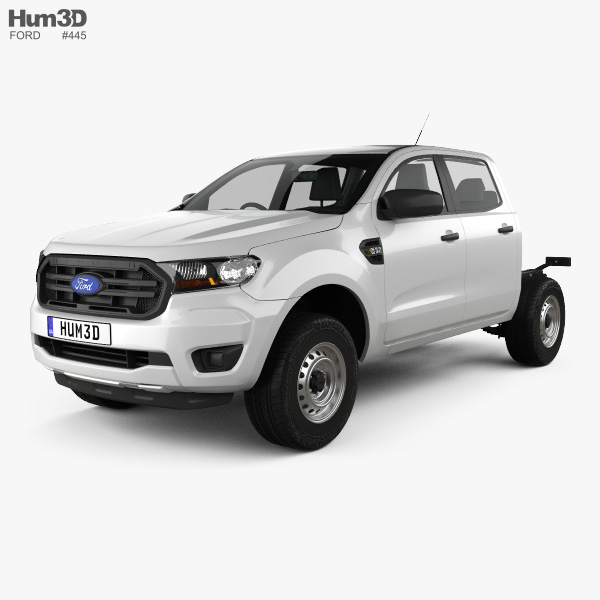 Ford Ranger Double Cab Chassis XL 2018 3D model