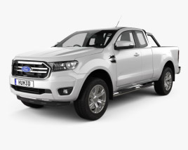 3D model of Ford Ranger Super Cab XLT 2018