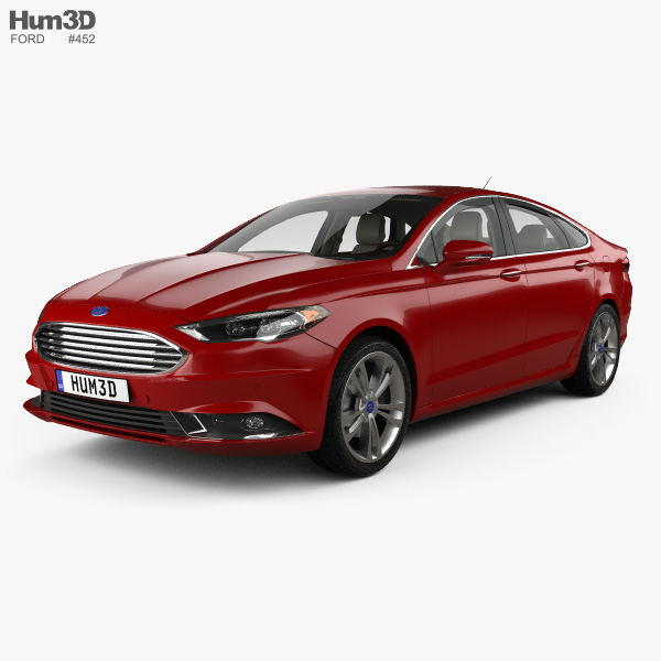 Ford Fusion Titanium mit Innenraum 2017 3D-Modell