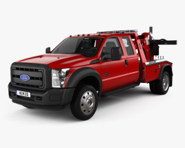 3D model of Ford F-450 Super Cab Jerr-Dan MPL-40 Wrecker 2013