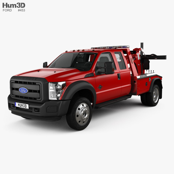 Ford F-450 Super Cab Jerr-Dan MPL-40 Wrecker 2013 3D model