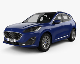 3D model of Ford Kuga Hybrid Vignale 2020