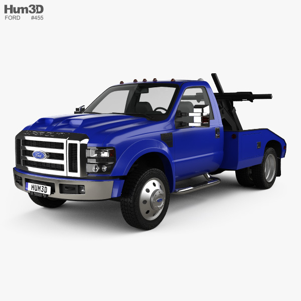 3D model of Ford F-550 Super Duty Regular Cab Tow Truck 2005