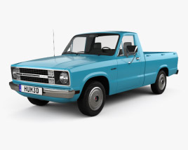 3D model of Ford Courier 1977