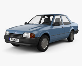 3D model of Ford Orion 1986