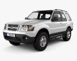 3D model of Ford Explorer Sport XLT 2001