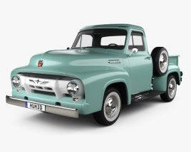3D model of Ford F-100 Pickup 1954