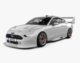 3D model of Ford Mustang V8 Supercars 2019