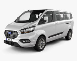 3D model of Ford Tourneo Custom L2 2017