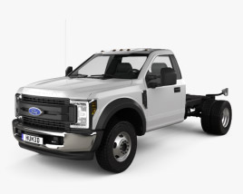 3D model of Ford F-550 Super Duty Regular Cab Chassis 2019