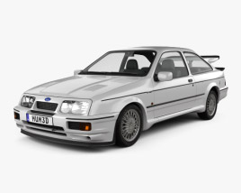 3D model of Ford Sierra Cosworth RS500 1986