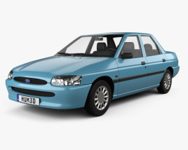 3D model of Ford Escort sedan 1995