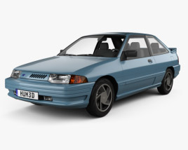 3D model of Ford Escort GT hatchback 1992