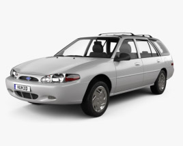3D model of Ford Escort wagon 1997