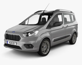 3D model of Ford Tourneo Courier 2018