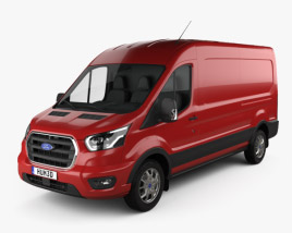 3D model of Ford Transit Panel Van L2H2 2018